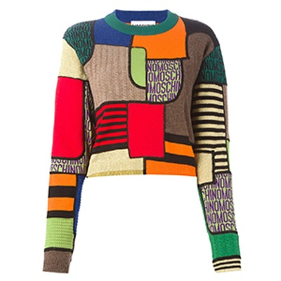 Geometric Intarsia Sweater