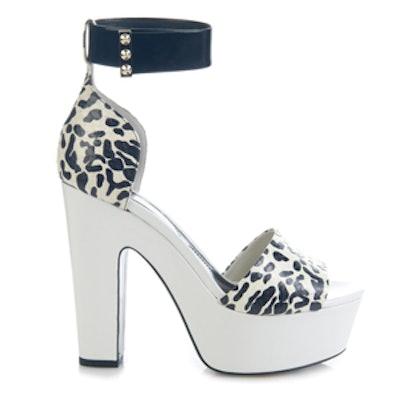 Animal-Print Snakeskin Platform Sandals