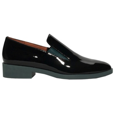 Glossy Leather Loafers