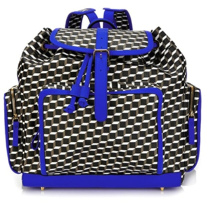 Cube Print Canvas Backpack
