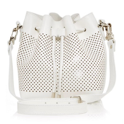 Leather Perforated Bucket Bag