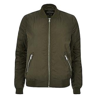 Khaki Classic Bomber Jacket