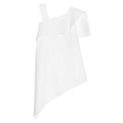 Iver Asymmetric Stretch Cotton-Blend Top