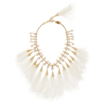 Feather and Pearl Faggio Necklace