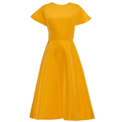 Buttercup Cotton-Faille Dress