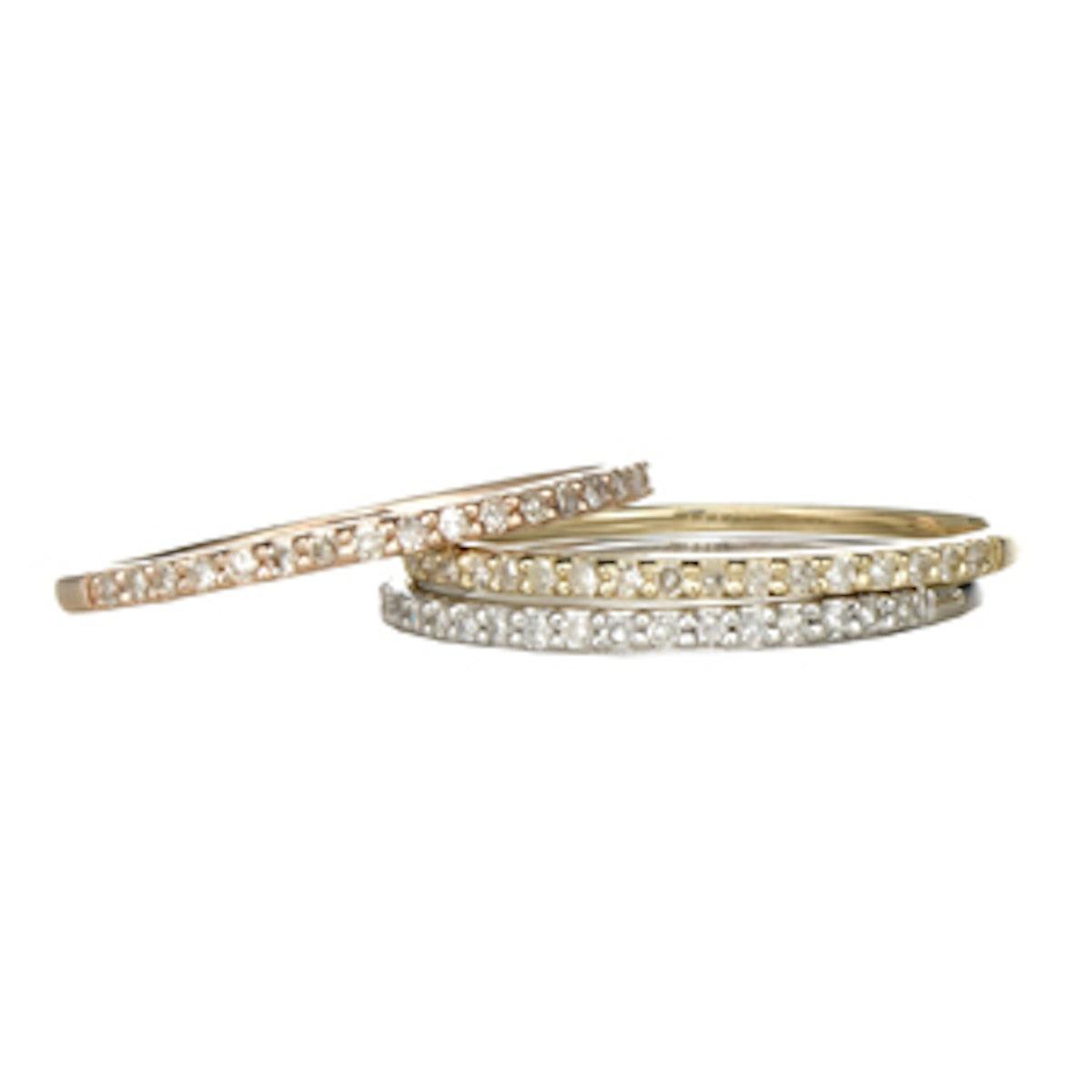 Jolie Diamond Gold Band Ring