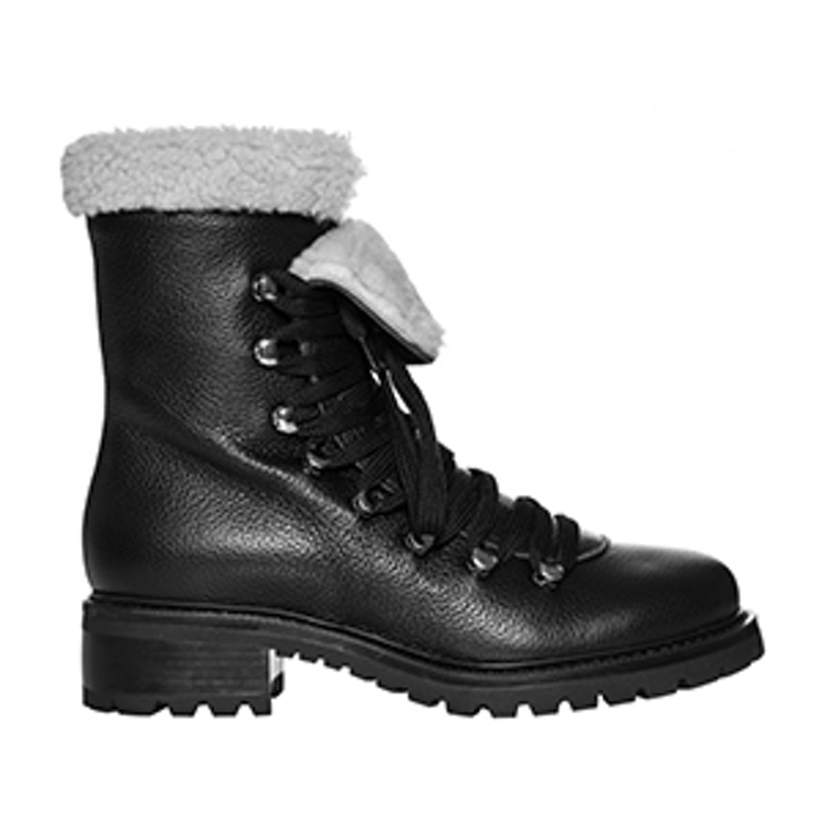 Shearling Lace Up Hiker Boot