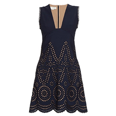 Aline Broderie-Anglaise Dress