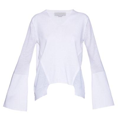 Asymmetric Wool And Silk-Blend Sweater