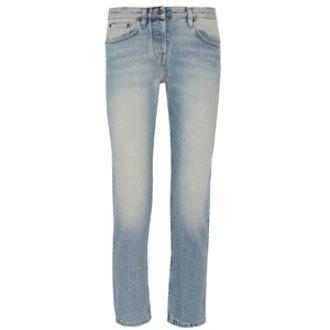 Ashland Cropped Mid-Rise Straight-Leg Jeans