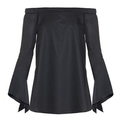 Neo Off-The-Shoulder Cotton-Poplin Top