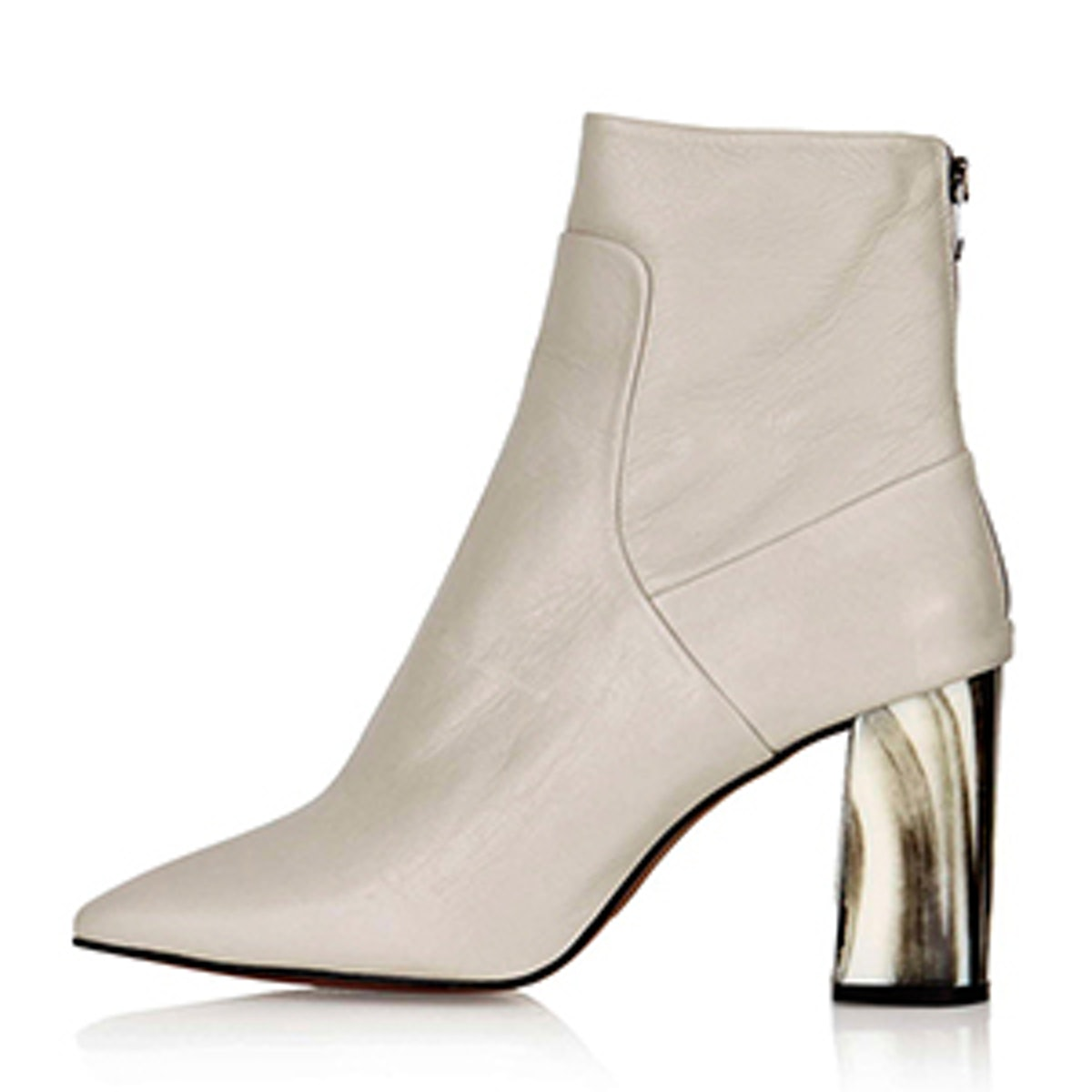 MUSE Bone Heel Boots