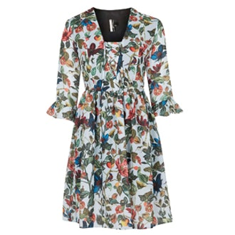 Garden Floral Print Dress