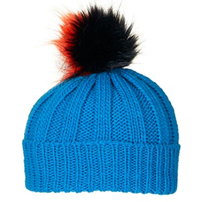 Multi-Colored Pom Beanie Hat