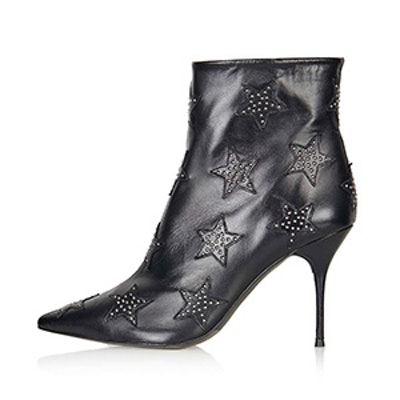 Painter Leather Star Stud Boots