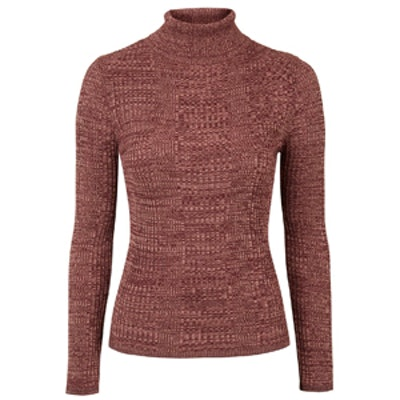 Ribbed Roll-Neck Jumper