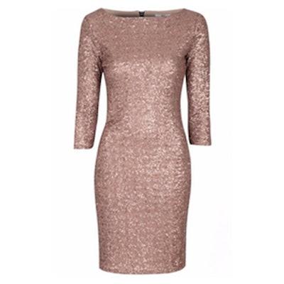 Sequin Sleeved Bodycon Dress
