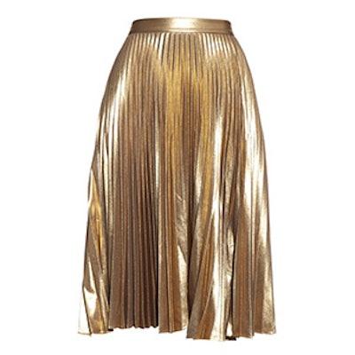 Gates Metallic Pleated Skirt