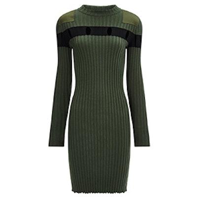 Khaki Wool Jumper Dress