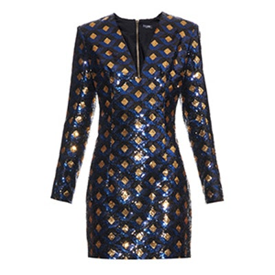 All-Over Sequined Mini Dress