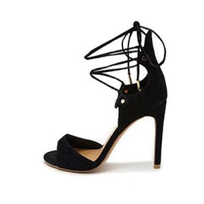 Lace Up Black Heel