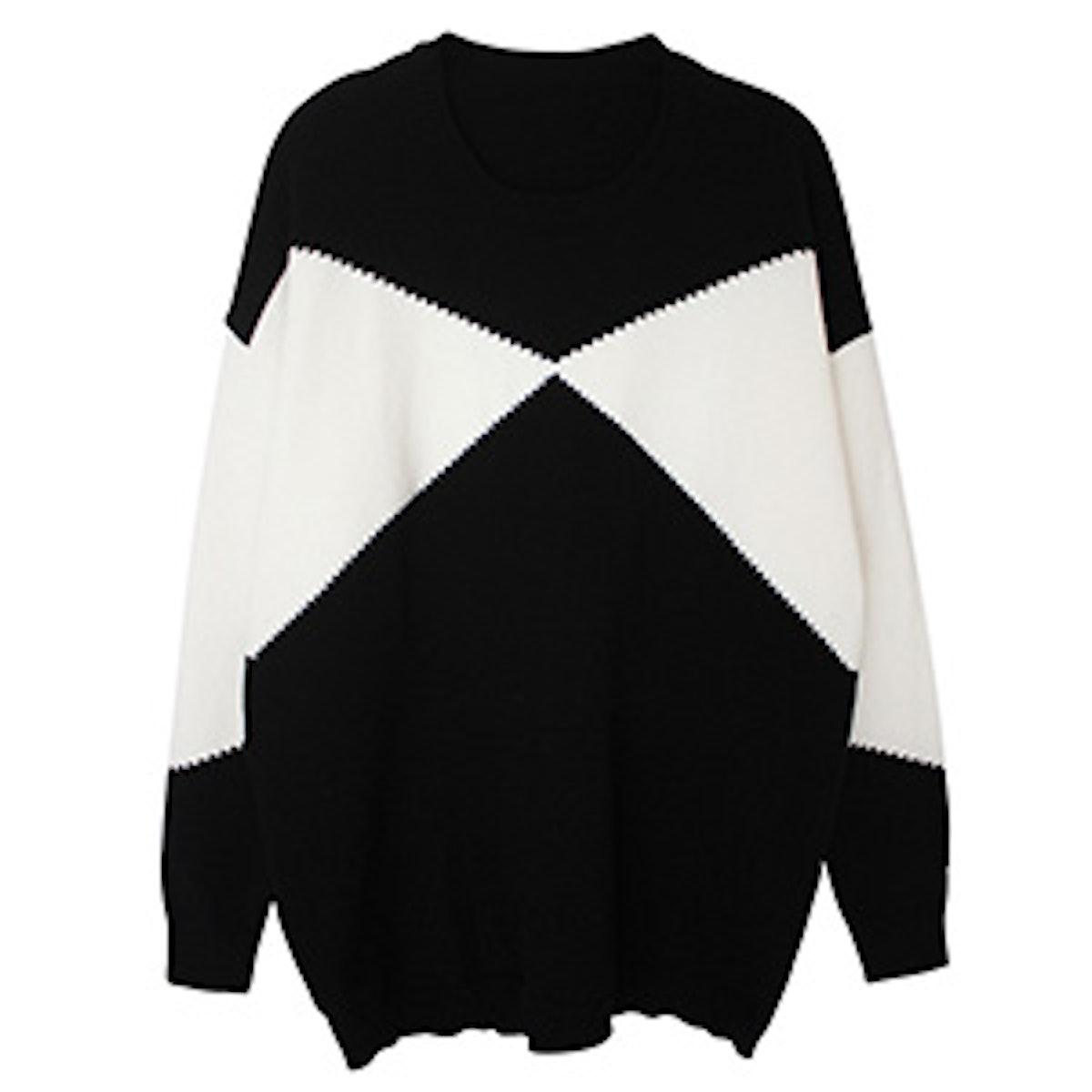 Black & White Oversized Sweater