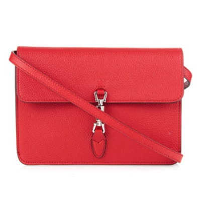 Jackie Flap-Over Leather Pouch