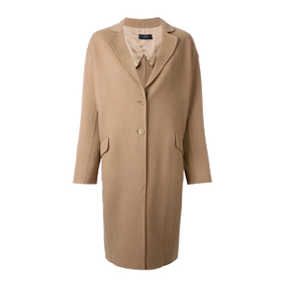 Wool-Cashmere Oversized Coat