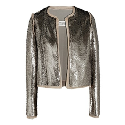 Sequined Stretch Crepe Jacket