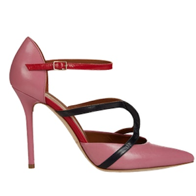 Veronica Point-Toe Leather Pumps