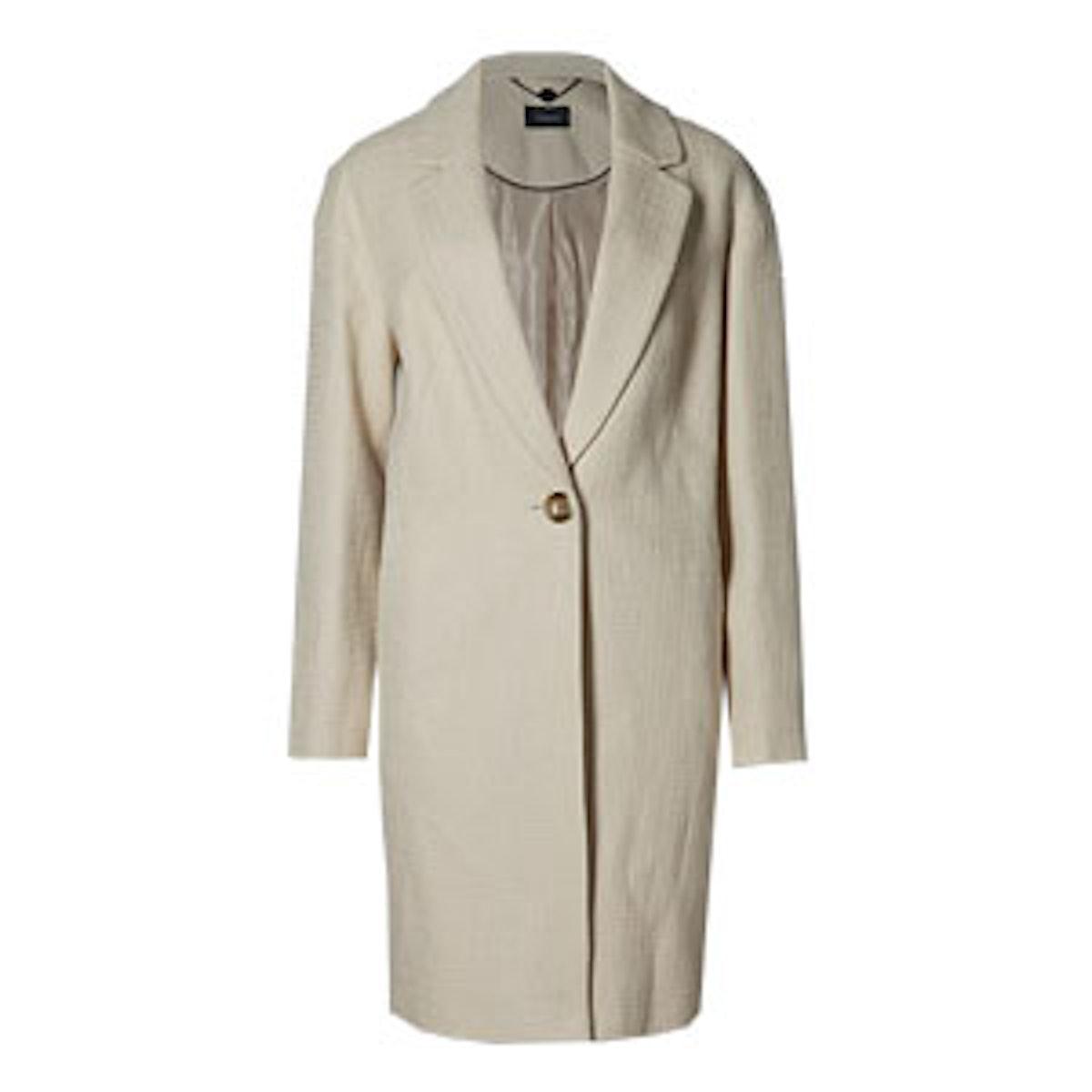Pure Cotton Textured Coat