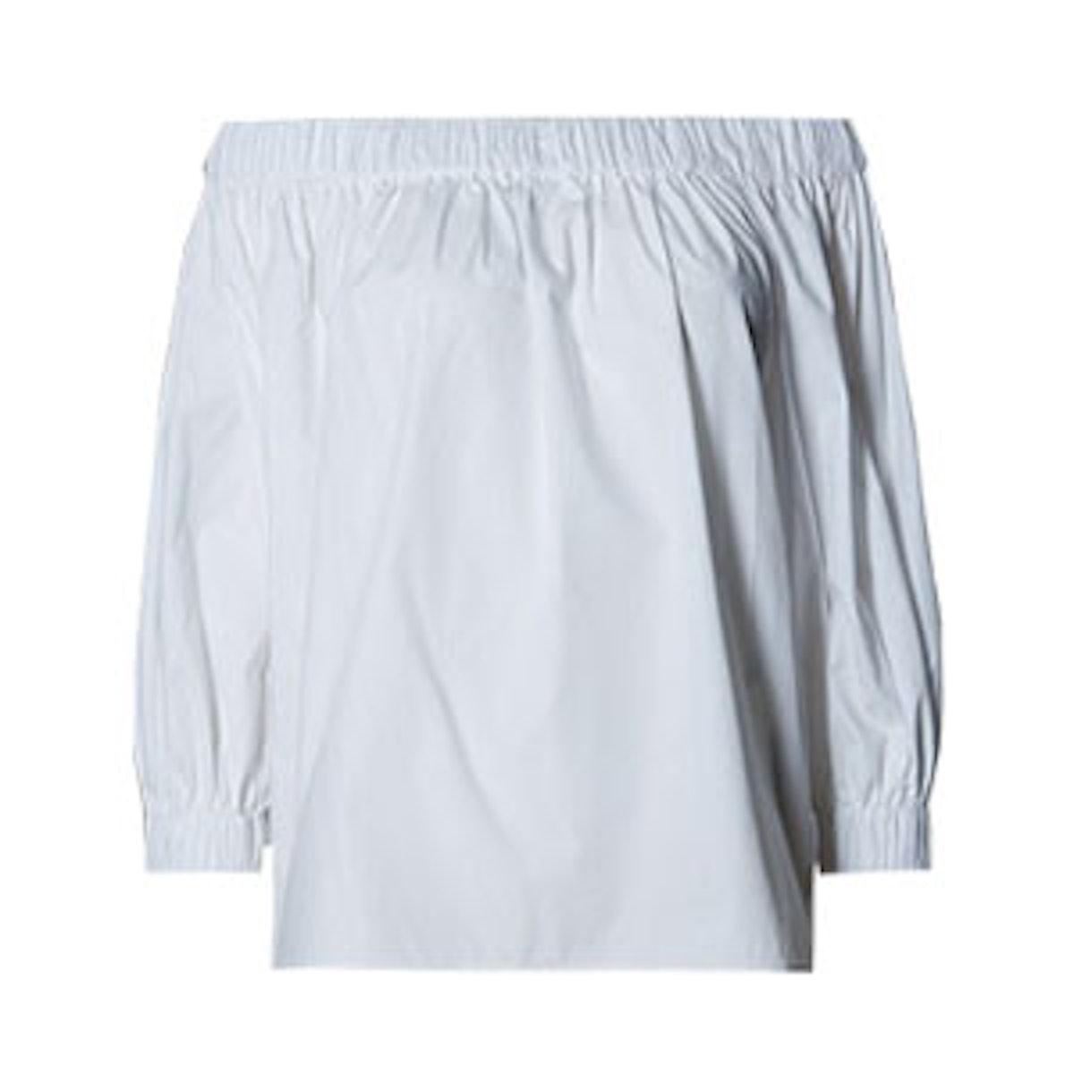 Pure Cotton Off The Shoulder Blouse