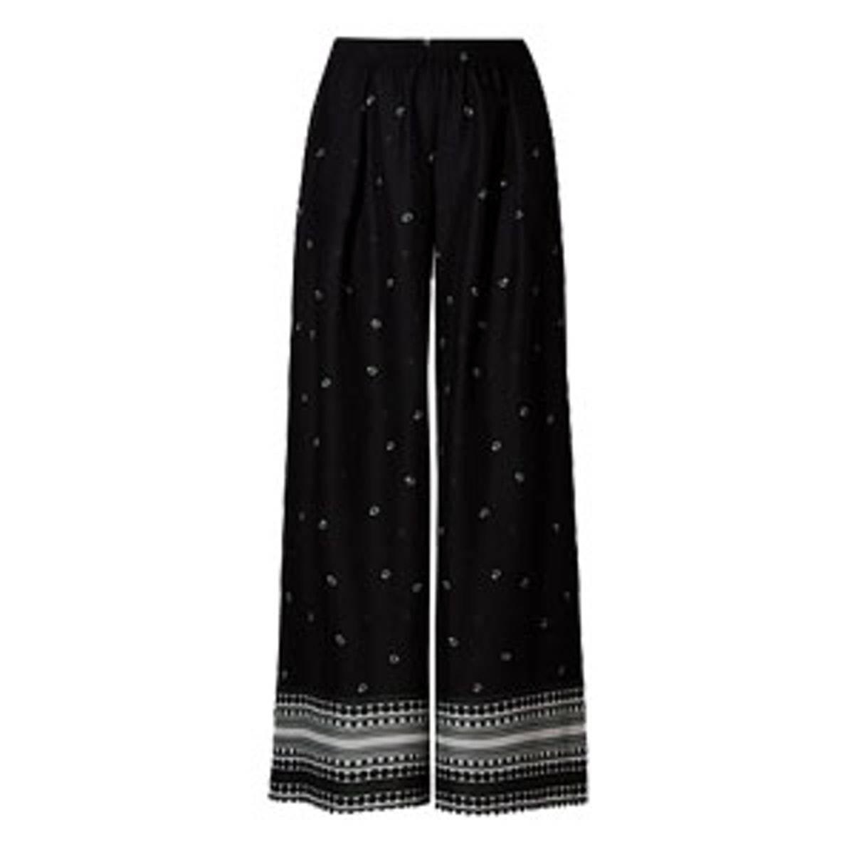 Scarf Print Wide Leg Trousers