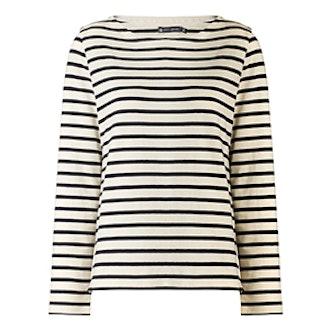Cream Cotton Stripe Top