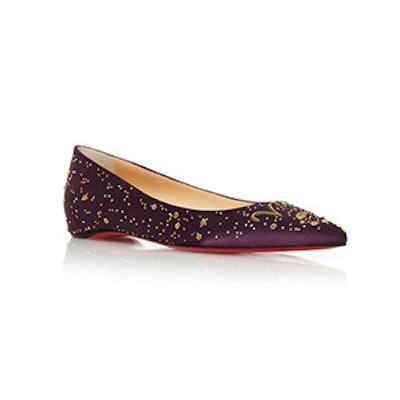 Purple The Aries Ballerina Flat