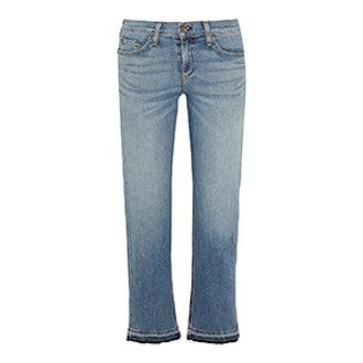 Cropped Straight-Leg Jean