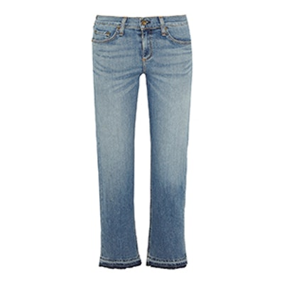 Cropped Straight-Leg Jean