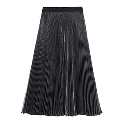 Lurex Pleat Skirt