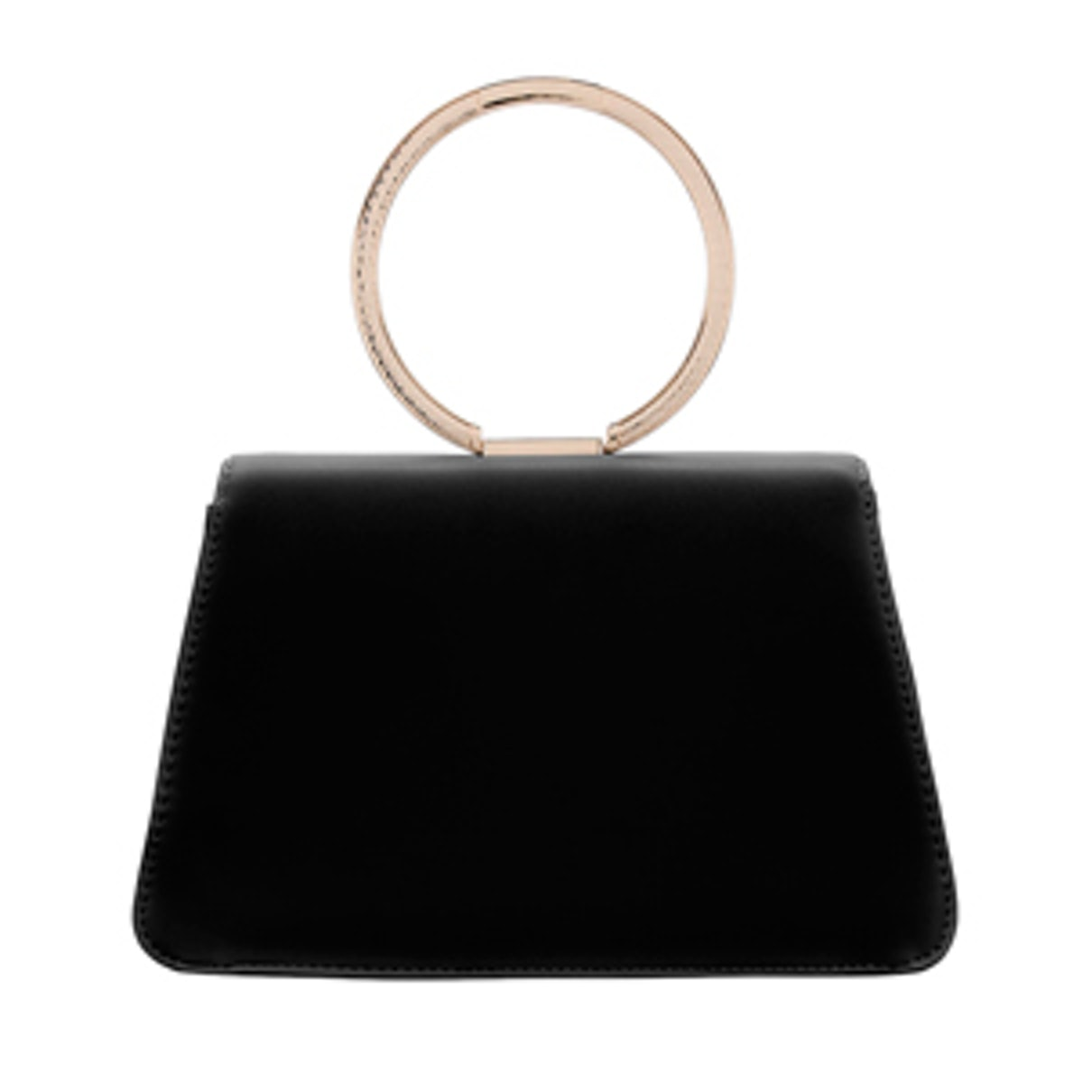 Black Magnetic Chain Satchel Bag