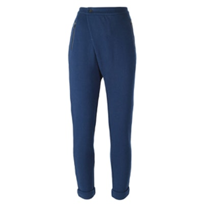 Asymmetric Front Slim Track Pants