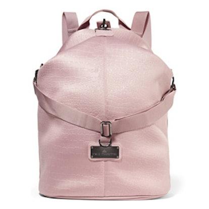 Croc-Effect Neoprene Backpack