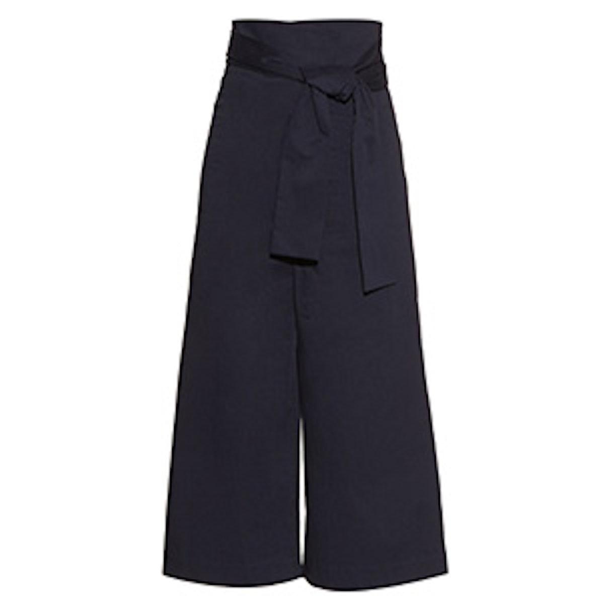 Paper Bag Wide Leg Trousers