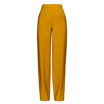 High-Waisted Wool-Crepe Trousers