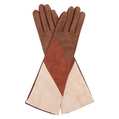 Celia Tri-Colour Suede Gloves