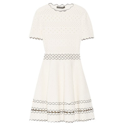 Stretch Pointelle-Knit Dress