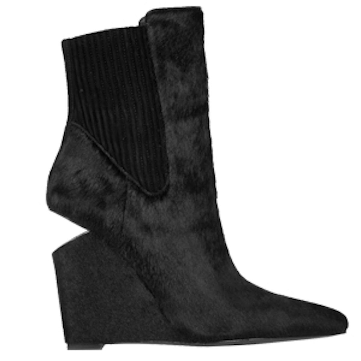 Andie Calf Hair Wedge Boots