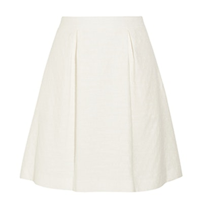 Celia Pleated Jacquard Mini Skirt