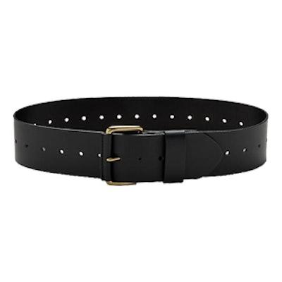 Italian Leather Wide Belt