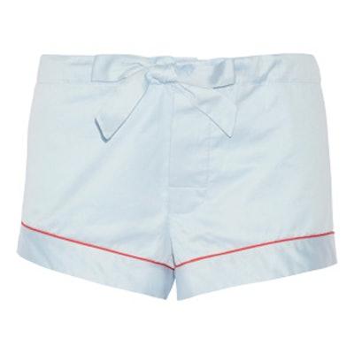 Cotton-Sateen Pajama Shorts