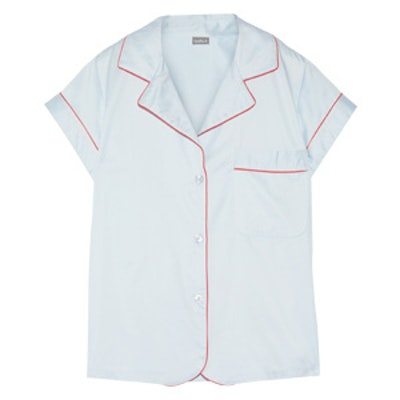 Cotton-Sateen Pajama Top